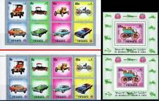 YEMEN 1970 VINTAGE CARS perf/imperf + 2 S/s MNH AUTOMOBILES, TRANSPORT