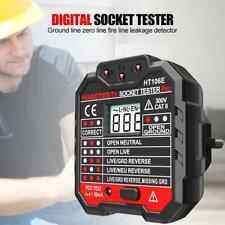 HABOTEST HT106E Digital Display Socket Tester Phase Check Detector Voltage Test
