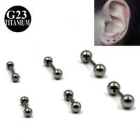 Medical G23 Titanium Tragus Helix Cartilage Ear Piercing Bar Ball Earring Stud