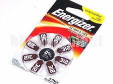 energy 312 AC312 ZA312 DA312 PR41 Brown Hearing Aid battery x8