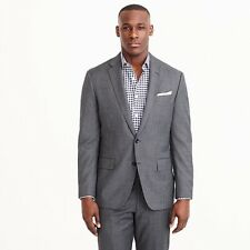 🔥$525 J.Crew Crosby Suit Jacket Italian worsted wool Charcoal Grey 40 Jcrew 40R