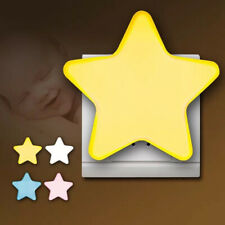 Mini Star LED Night Light EU/US Plug-in Socket Bedside Wall Lamp Kids Lamp