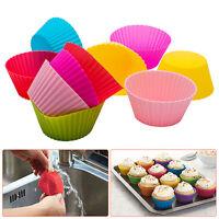 24Pcs Silikon Muffinform Backform Muffinförmchen Kuchenform Cupcake Muffins Set