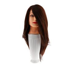 Pro 100% HUMAN HAIR Hairdressing Salon Practice Head Training Mannequin New