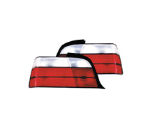 To Fit BMW 3 Series E36 Saloon M3 Look Red & Clear Lens Rear Tail Lights - Pair