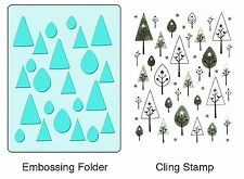 Sizzix Birds 'n' Trees Emboss & Stamp set #657765 Retail $19.99 Retired BEAUTY!!