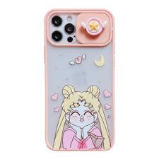 Dibujos Animados Sailor Moon Aegis a prueba de caída de cámara teléfono caso para iPhone 11 12 Pro Max