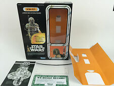 """replacement vintage star wars 12"""" Boba fett box + inserts"""