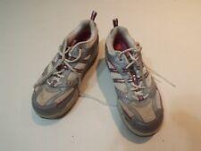 Skechers shape-ups gray pink tennis athletic shoes women size 8