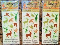 132 Wildlife Animal temporary TATTOOS party favors Deer Duck Turkey Pheasant
