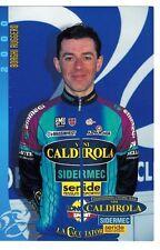 CYCLISME carte cycliste BORGHI RUGGERO équipe VINI CALDIROLA 2000
