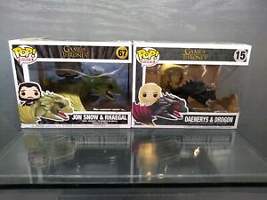 FUNKO POP RIDES GAME OF THRONES DAENERYS/DROGON AND JON SNOW/RHAEGAL NEW