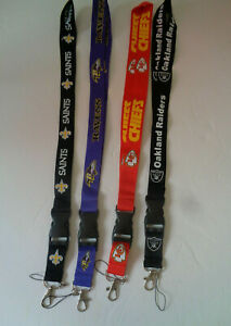 2.Neck Lanyard Key Chain Phone strap accessories saints chiefs raiders ravens