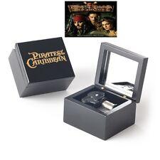 Black Square Handcraft Music Box ♫ Pirate of The Caribbean Davy Jones Theme ♫