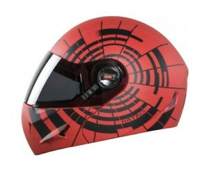 SB-41 Oscar Glossy Red With Black Full Face Plain Visor Helmet L Size 600mm
