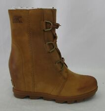Sorel Women's Joan of Arctic Wedge II Camel Brown Boot 1808561 Size 8