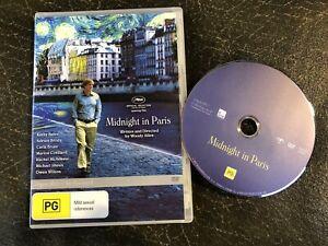 MIDNIGHT IN PARIS - WOODY ALLEN FILM (Owen Wilson) - R4 DVD (VGC) FREE POST!!
