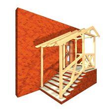 Haustürüberdachung; Haustürvordach; Türüberdachung; KVH; Treppenüberdachung