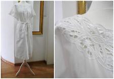 H&M Edles & luftiges Vintage Midi Hemdkleid * BoHo * L 40 42 Kleid Spitze weiß