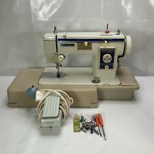 Vintage New Home Janome Model 539 Heavy Duty Sewing Machine Working