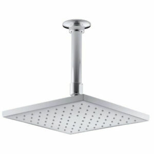 KOHLER 13695-CP 8-Inch Square Ceiling Rain Shower Head Induction Spray 2.5 GPM