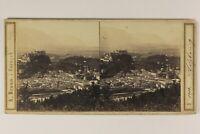 Autriche Salisburgo Panorama Foto A. Braun Stereo Vintage Albumina c1865