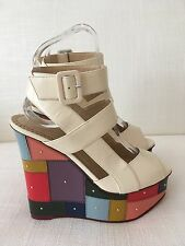 Charlotte Olympia Patchwork Wedge Heel Size 36 NEW £645