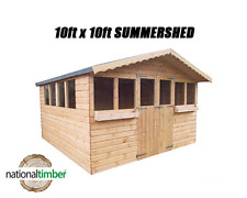 10FT x 10FT SUMMER HOUSE WITH 1FT OVERHANG/GARDEN SHED! TOP QUALITY TIMBER