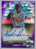 KESTON HIURA 2017 BOWMAN CHROME PURPLE REFRACTOR ROOKIE AUTO RC /250