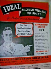 1941-42 Ideal Electrical Mechanical Equipment Catalog & Price List Sycamore Il