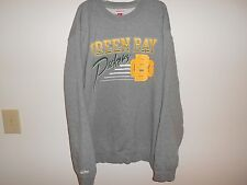 GREEN BAY PACKERS 3XL Mitchell & Ness NFL Gray Crew Sweatshirt - Exc Cond!