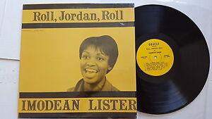 IMODEAN LISTER - Roll Jordan roll 1960's PRIVATE BLACK GOSPEL Houston TX (LP)