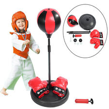 Children Boxing Set Glove Stand Exercise Equipment Punching Fitness Ball Stand