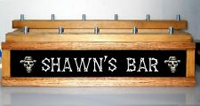 Personalized Skull & Bones lighted 11 LED BEER  tap handle display