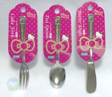 SANRIO HELLO KITTY kawaii tea spoon and cake fork,Butter Knife Set Made in Japan