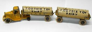 Vintage 1930`s Tin & Diecast TootsieToy MACK TANKER TRUCK