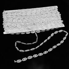 10 Yards Rhinestones Crystal Chain Ribbon Trim Wedding Sewing Accessories #1