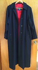 Burberry Black Rain Proof Long Full Length Trench Coat w Wool Lining 10  US 8