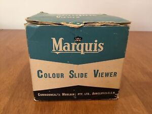 Marquis Colour Slide Viewer (Yellow) in Original Box Opened #331