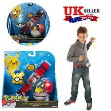 Pokemon Pikachu Clip N GO Carry Poke Ball Toys Cross Belt Game Kids Gift In Box