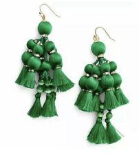 New Kate Spade Pretty Poms Tassel Earrings - Green - RRP $108
