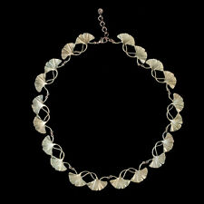 Michael Michaud - Ginkgo Shoots and Leaves Necklace - Silver Seasons Jewelry