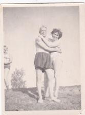 1960s RARE Nude man hugs woman wife gay interest Russian Soviet photo