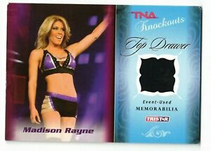 MADISON RAYNE 2009 TriStar TNA Knockouts Top Drawer Patch #TD-5 /75 Turquoise