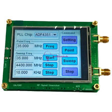 DC4-9V 35M-4.4G RF Signal Generator PLL Sweep Frequency ADF4351 Touch Screen