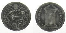 *TRIU* ROMA Pio VI 1775-1799 GROSSO 1775 in argento