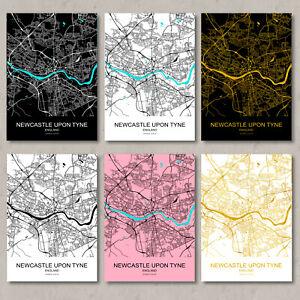 Newcastle map, print, Newcastle map poster, Newcastle map, wall art, upon tyne.