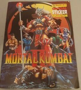Panini Mortal Kombat 2 sticker album 1995 rare 27 Stickers In Book Fast Dispatch