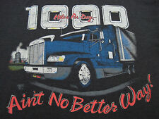 SUPER THIN SOFT!! 1990 vtg 1000 miles a day TRUCKER T SHIRT 50/50 XL