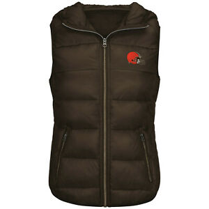 G-III 4her Cleveland Browns Women's Free Agent Packable Vest - Brown